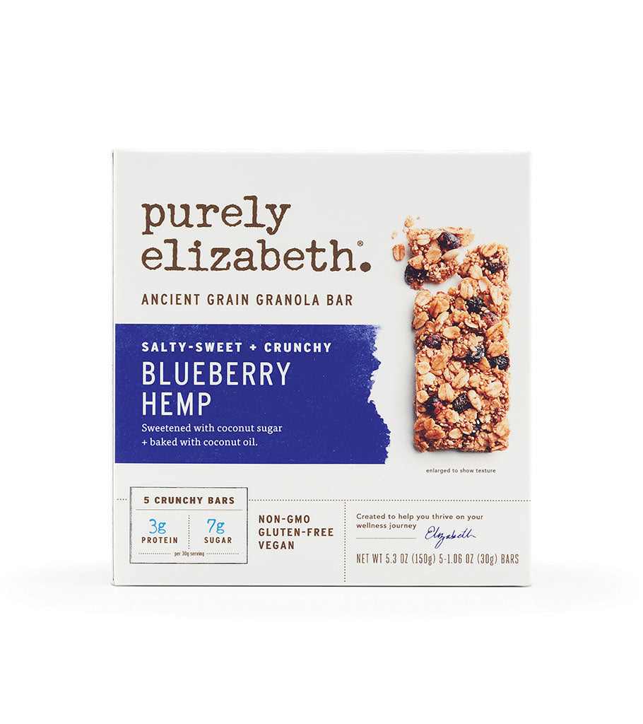 Purely Elizabeth Blueberry Hemp Ancient Grain Granola Bar