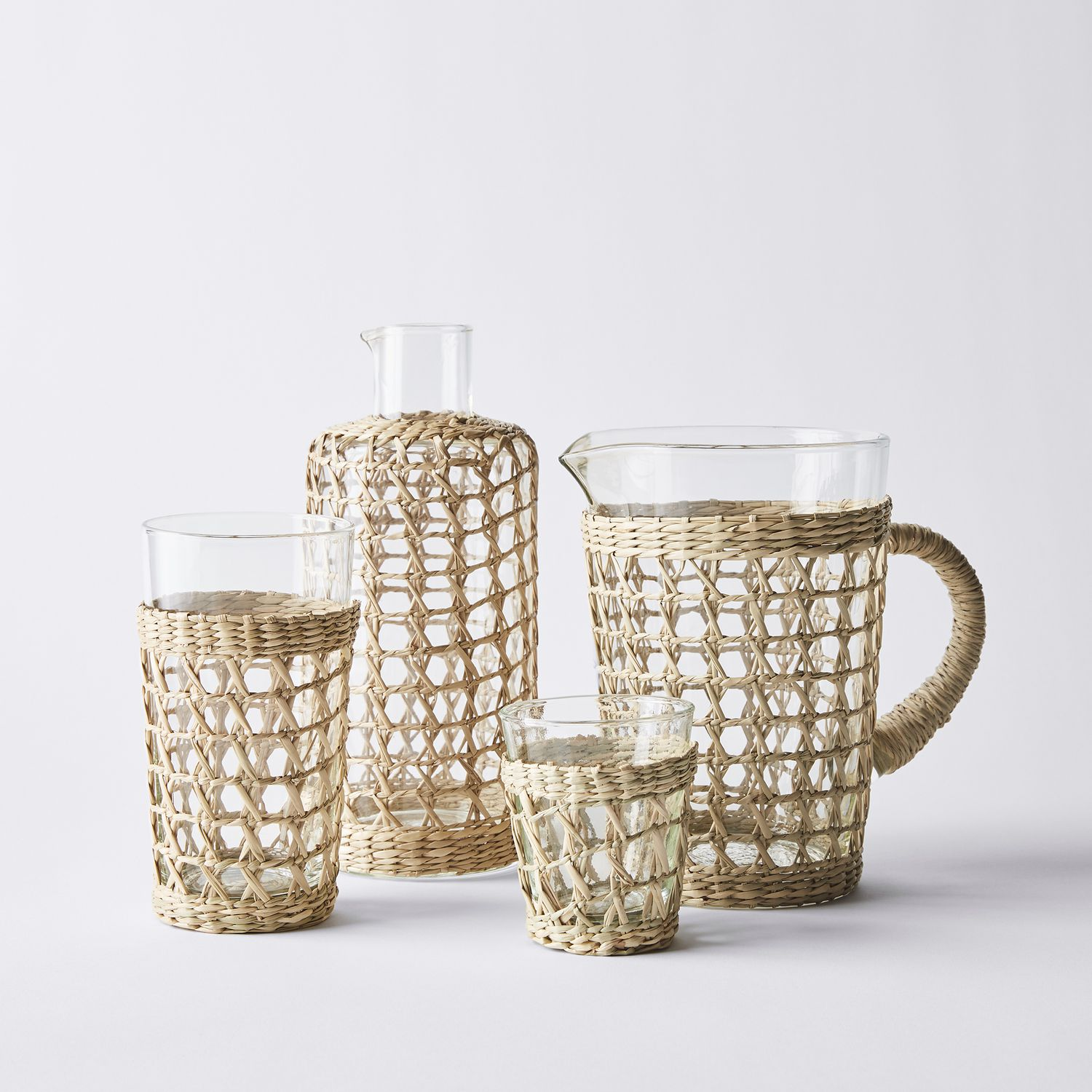 Kiss That Frog Seagrass Tumblers & Pitcher