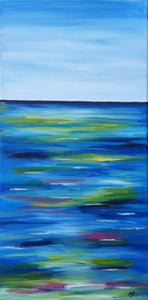 "Nicky Gurret, Oil on Canvas, ""Ocean Blues"""