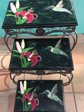"Load image into Gallery viewer, Kathy Ann Austin, Furniture, ""Hummingbirds In Flight"""