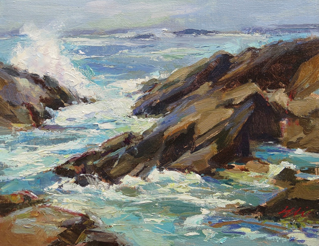 Breakers, Eli Cedrone, Oil on Canvas