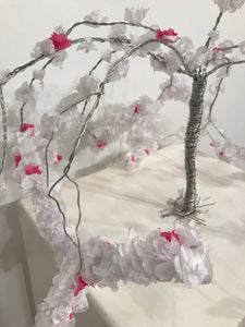 "Naomi Harvey, Wire, Tissue paper, ""Flower Child"""