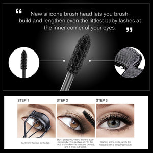4D Silk Fiber Eyelash Mascara (Waterproof Extension Thick Long Curling Eyelash) - Wonder-mart.com