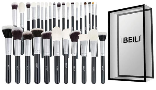 Professional Natural Hair Makeup Brushes ( Set of 30 ) - Wonder-mart.com