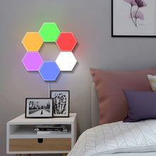 Load image into Gallery viewer, Modular Touch Sensor Lighting System (Hexagonal led magnetic DIY quantum light lamp) - Wonder-mart.com