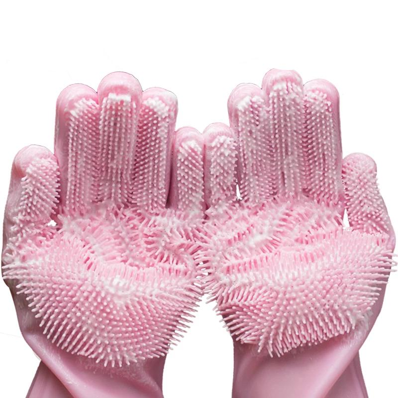 Magic Silicone Dishwashing Gloves (50% Off & Free shipping) - Wonder-mart.com