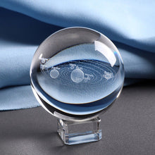 Load image into Gallery viewer, 6CM Laser Engraved 3D Crystal Solar System Ball