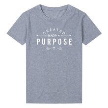 Load image into Gallery viewer, Created with A Purpose Cross Sleeve T-Shirt