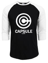 Load image into Gallery viewer, Capsul Corp Long Sleeve T-shirt Three-quarter Sleeve