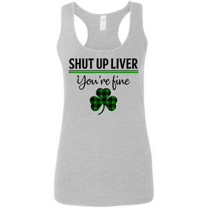 Shut Up Liver, St. Patrick's Day Ladies' Softstyle Racerback Tank