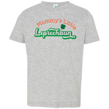Load image into Gallery viewer, My Little Leprechaun Toddler Jersey T-Shirt. St. Patrick's Day