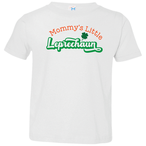 My Little Leprechaun Toddler Jersey T-Shirt. St. Patrick's Day
