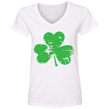 Load image into Gallery viewer, St. Patrick's Day Ladies' V-Neck T-Shirt