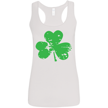 Load image into Gallery viewer, St. Patrick's Day Ladies' Softstyle Racerback Tank