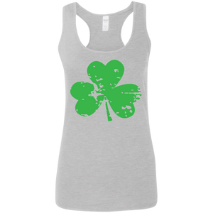 St. Patrick's Day Ladies' Softstyle Racerback Tank
