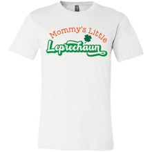 Load image into Gallery viewer, Mommy's Little Leprechaun, St. Patrick's Day Youth Jersey Short Sleeve T-Shirt