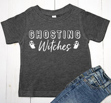 Load image into Gallery viewer, Ghosting Witches Halloween Baby Boy or Toddler T-Shirt