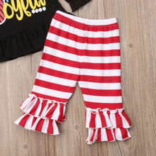 Load image into Gallery viewer, Kids Baby Girls Christmas Shirt Top Stripes Pants