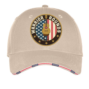Warrior Rounds Hat- Red, Blue, White