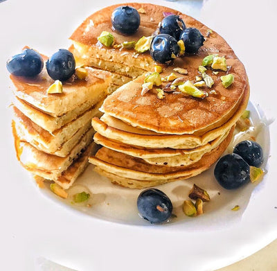 Low calories yogurt pancakes