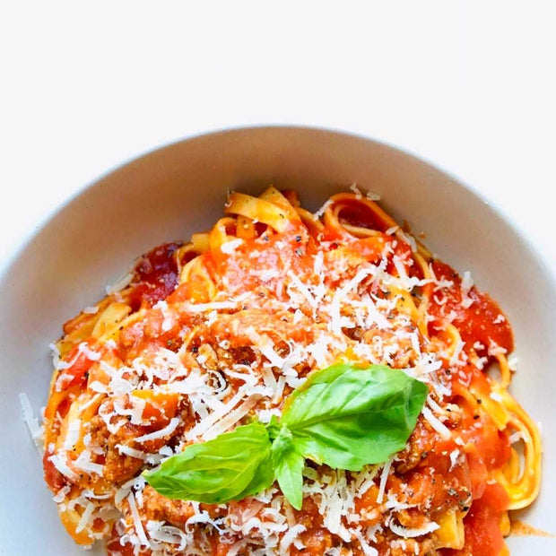 Italian Bolognese, nutritionally balanced, high in protein, low in fat, cooked healthy, Italian traditional ragù