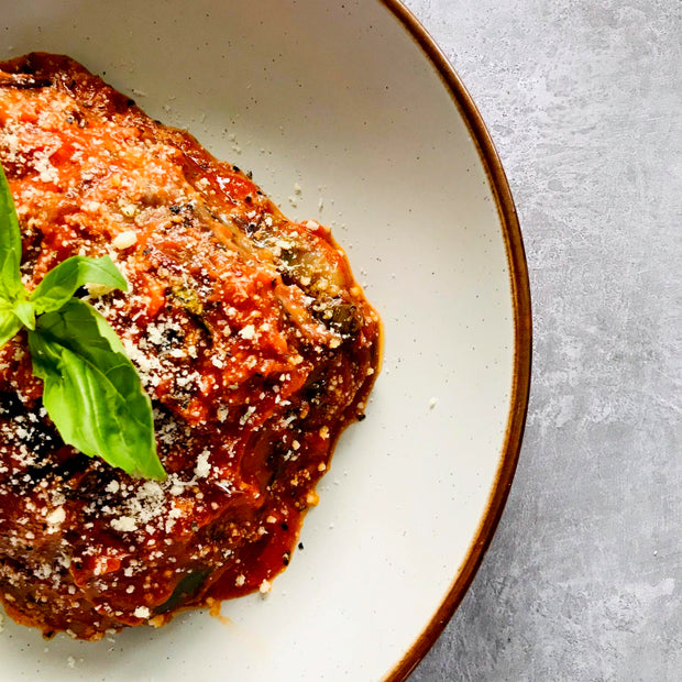 eggplants parmigiana, low in kcal, cooked healthy, Italian traditional recipe