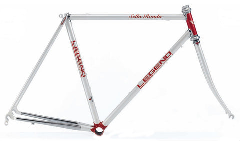 Legend by Marco Bertoletti - Sella Ronda Bespoke Built Steel Bicycle Frame and Steek Fork