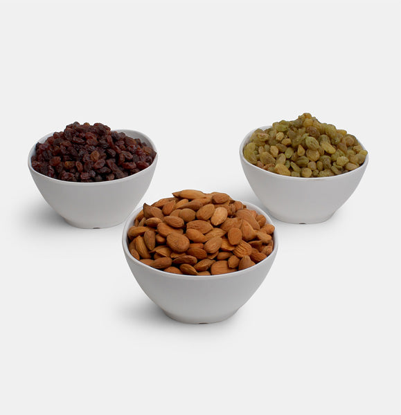 Premium Combo Pack of Ghorbandi Almonds, Red Raisin And Green Raisin