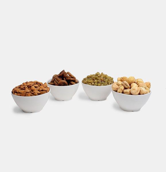 Premium Golden Pack of Ghorbandi Almonds, Green Raisin, Fig And Dry Apricot