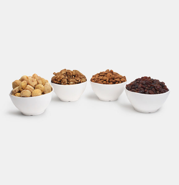 Premium Golden Pack of Ghorbandi Almonds, Red Raisin, Walnut And Dry Apricot