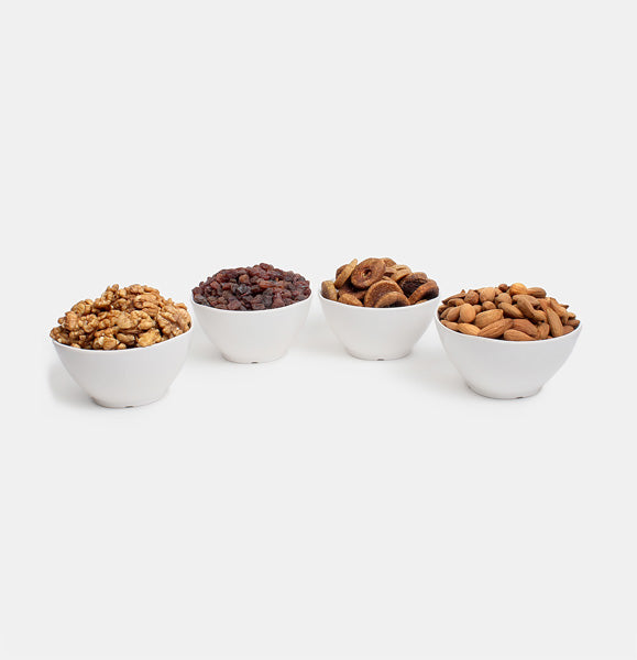 Premium Golden Pack of Normal Mamra, Red Raisin, Fig And Walnut
