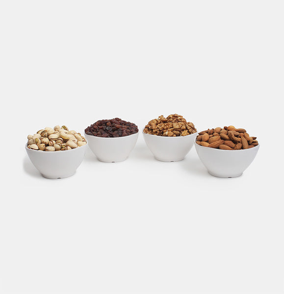 Premium Golden Pack of Normal Mamra, Red Raisin, Pista And Walnut
