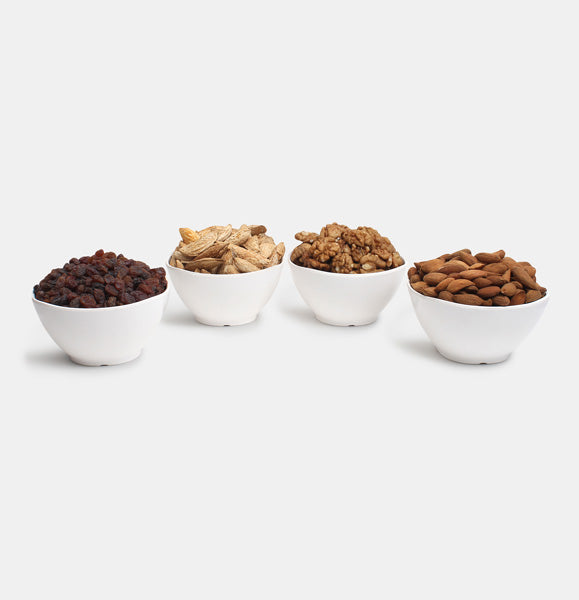 Premium Golden Pack of Normal Mamra, Red Raisin, Walnut And  Kaghazi Almond