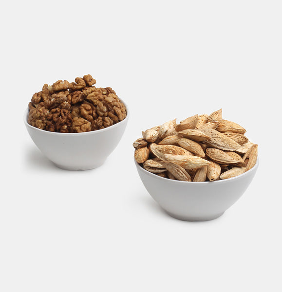 Premium Value Pack of Walnuts And Kaghazi Almond