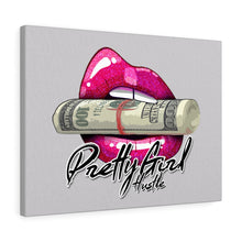 Load image into Gallery viewer, Pink & Grey Pretty Girl Hustle Canvas