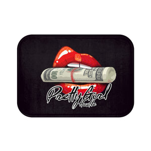 Black & Red Pretty Girl Hustle Bath Mat