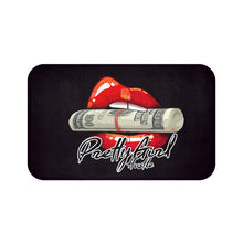 Load image into Gallery viewer, Black & Red Pretty Girl Hustle Bath Mat