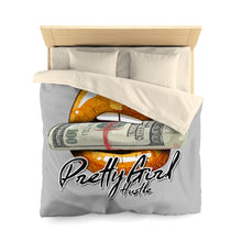 Load image into Gallery viewer, Orange & Grey Pretty Girl Hustle Microfiber Duvet Cover