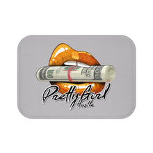 Load image into Gallery viewer, Orange & Grey Pretty Girl Hustle Bath Mat