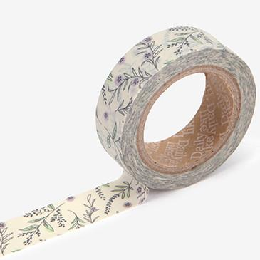 Dailylike Floral Masking Tape | In Peace Purple Flower Washi Tape - shop Stationery & Gifts store online