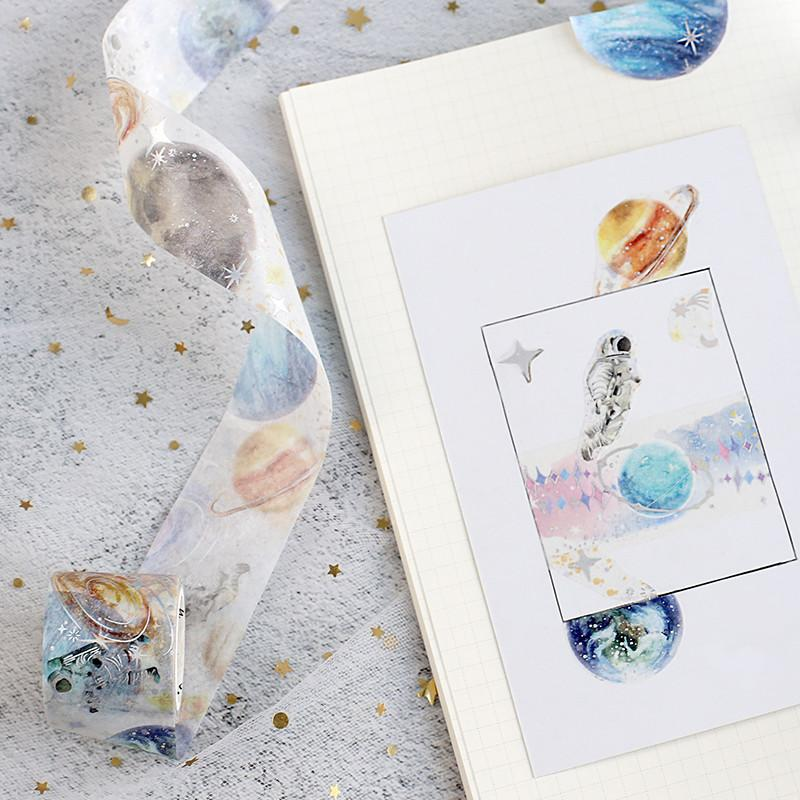 BGM Space Silver Foil Washi Tape - Space Planet - shop Stationery & Gifts store online