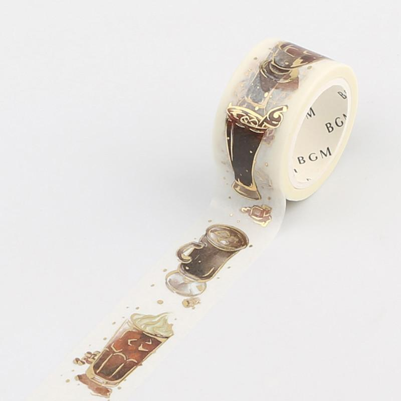 BGM Coffee Gold Foil Washi Tape - Ice Coffee - shop Stationery & Gifts store online