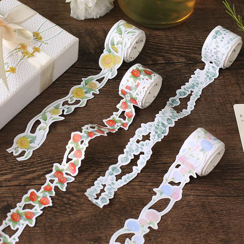 BGM Die-Cut Floral Lace Washi Tape - Europe Eucalyptus - shop Stationery & Gifts store online