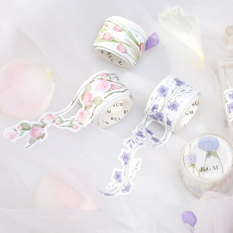 BGM Die-Cut Floral Lace Washi Tape - Europe Ramanas Rose - shop Stationery & Gifts store online