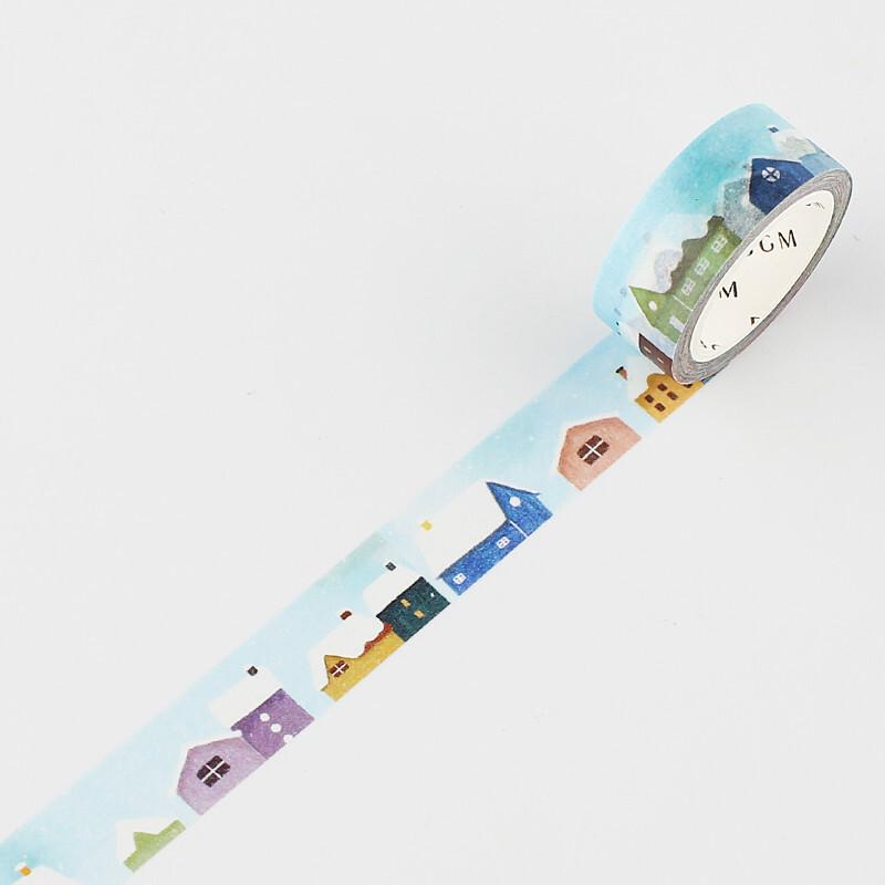 BGM Winter Themed Washi Tape - Snow Houses - shop Stationery & Gifts store online