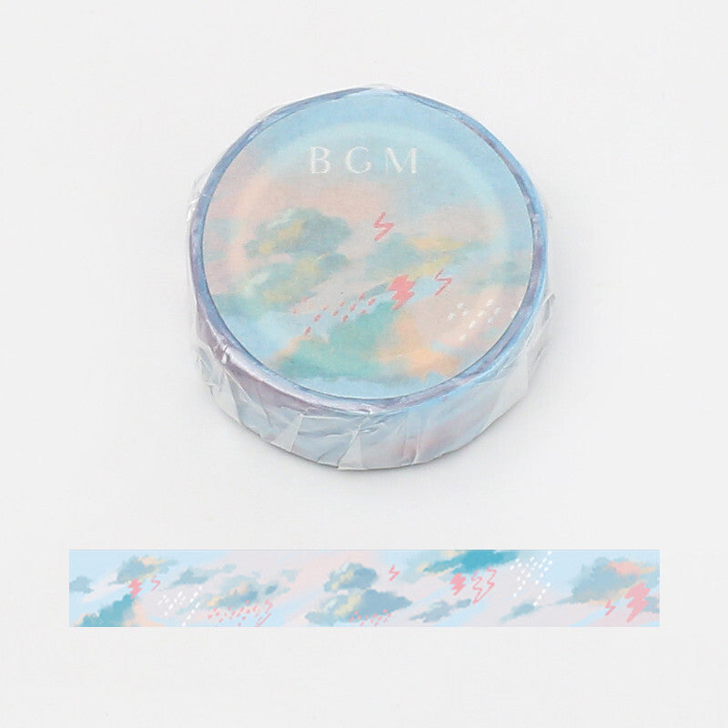 BGM Washi Tape - Masking Tape Rain Cloud - shop Stationery & Gifts store online