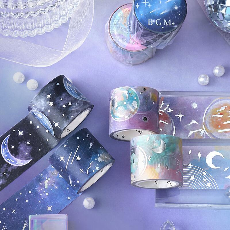 BGM Moon Silver Foil Washi Tape - Moon Phases - shop Stationery & Gifts store online