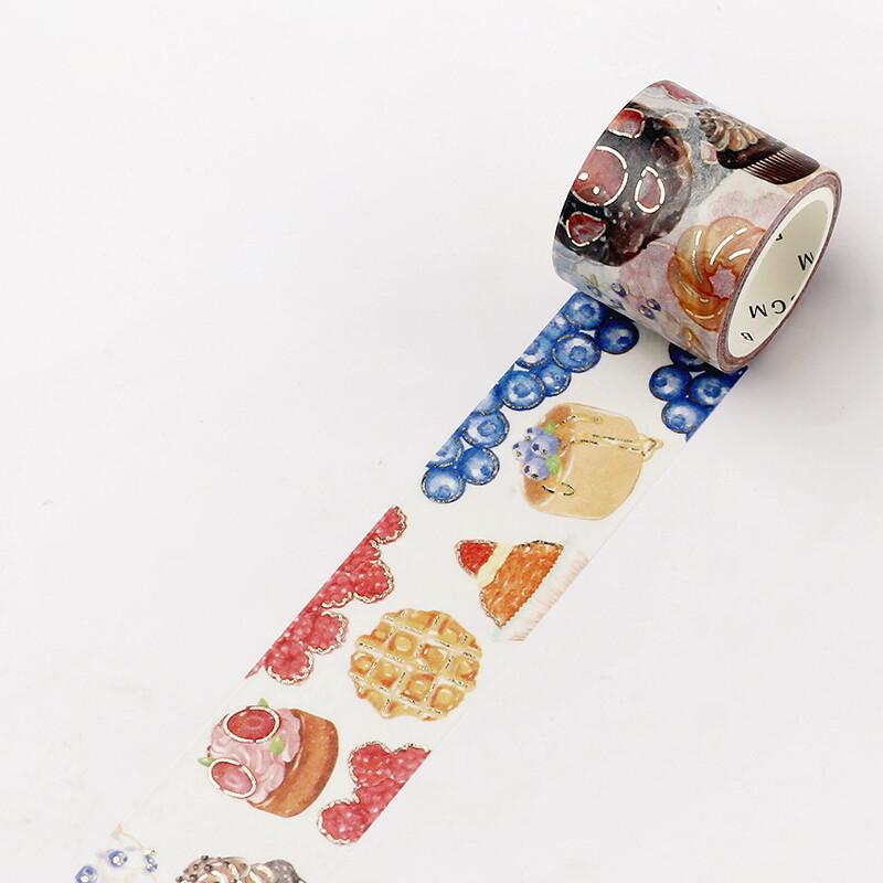 BGM Dessert Sweet Bakery Gold Foil Washi Tape - Sweets - shop Stationery & Gifts store online