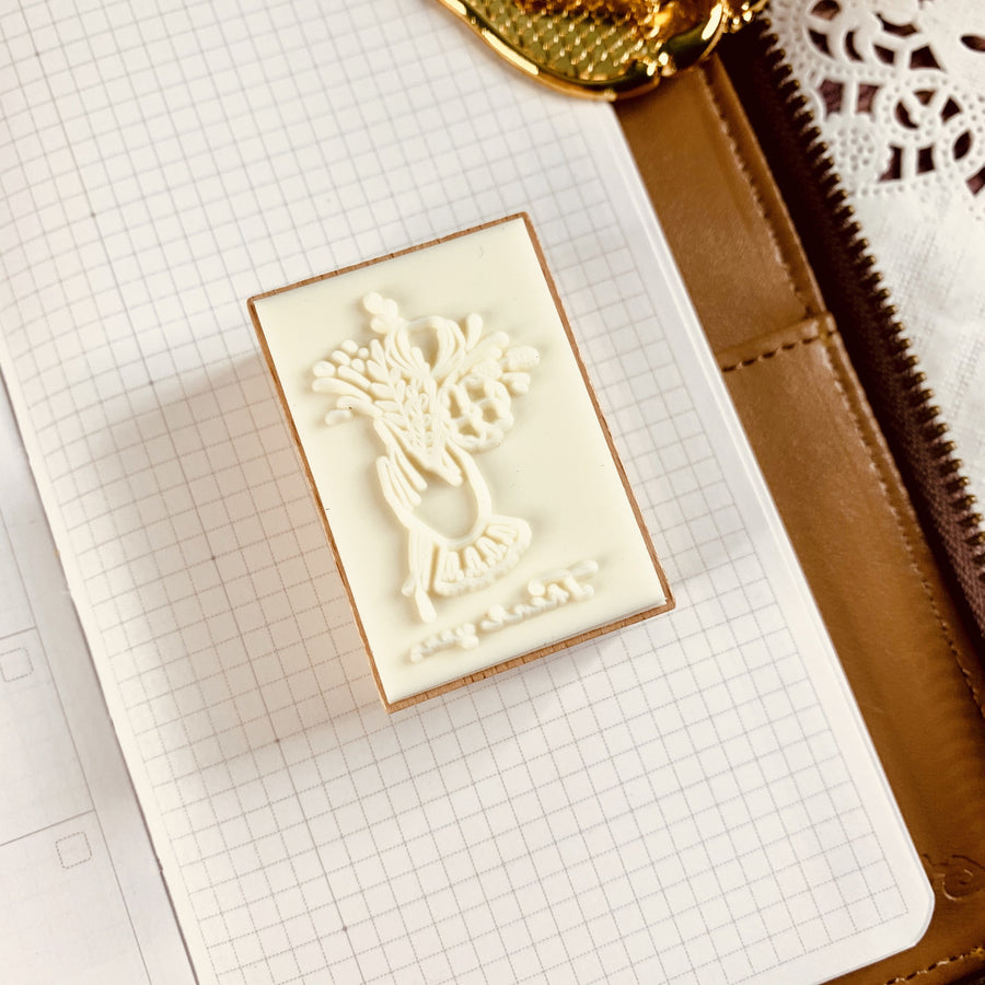Thank You Rubber Stamp | Flower Bouquet Rubber Stamp - shop Stationery & Gifts store online