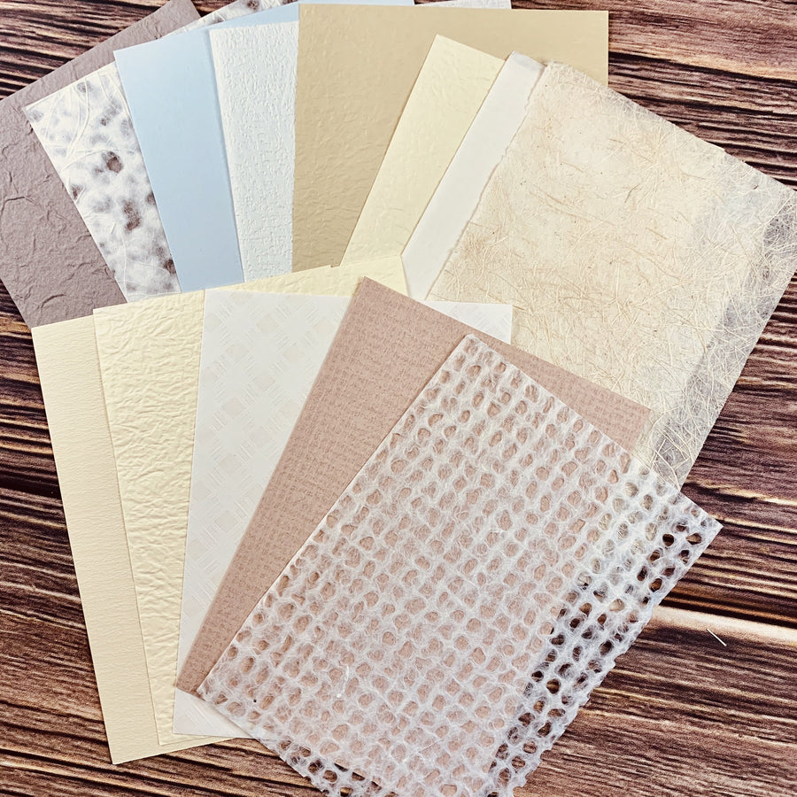 Milk Tea Theme Assorted Textured Paper Collection - shop Stationery & Gifts store online